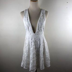 NBD Dresses - NBD Faith Ivory Floral Lace Party Mini Dress XS